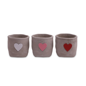 Ceramic Pot Hjarta ES9 assorted x3