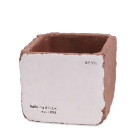 Ceramic Brick 11x11 H9cm white