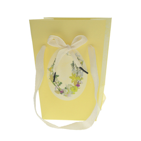 Carrybag Easter Decoration 15/15x11x20cm FSC Mix yellow