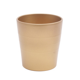 Ceramic Pot Linn 5in metallic gold