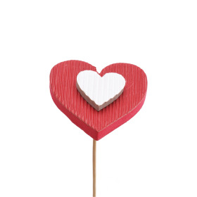 Heart Flavour 7cm on 50cm stick red