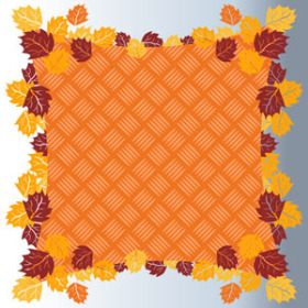 Fall Basket 24x24 in Sheet orange