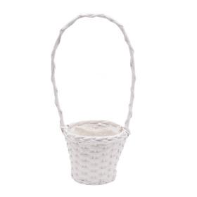 Basket Dreamy Garden Ø13.5 H10.5cm white