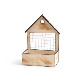 Wooden bird house 20x12 H7 TH29cm