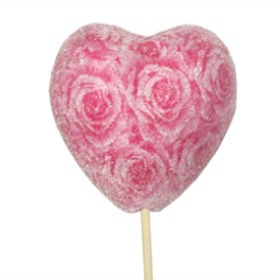 HEART SUGAR ROSES PICK LIGHT PINK/PINK IN 20 IN STICK