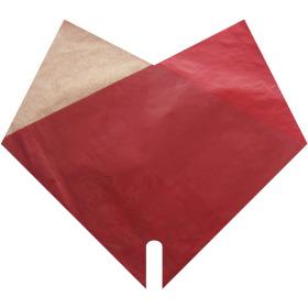 Sleeve Doublé Kraft 35x35cm red