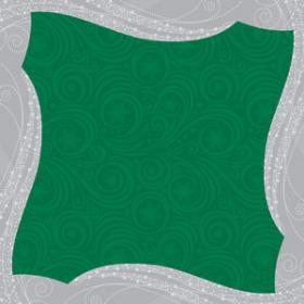 Wintermist 24x24in green