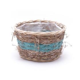 Basket round Ø32cm sea blue