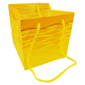 Carrybag Serenity 6.25x6.25x6.25 in yellow
