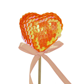 Heart Boost 5cm on 50cm stick orange