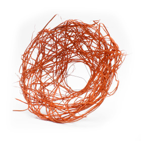 Bouquet holder Rattan 20cm orange