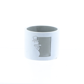 Concrete pot Olaf ES9 white