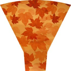 Fall Leaves 19in Moon Top orange (No Header)