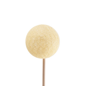 Deco Ball Thread 6cm on 50cm stick yellow