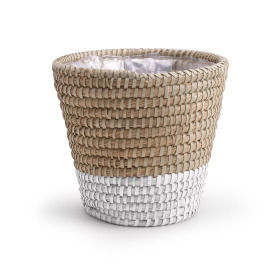 Pot basket Moroccan White Ø22.5 H21cm