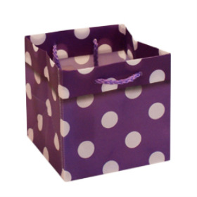 CARRYBAG POLKA DOTS 5X5X5 IN LILAC