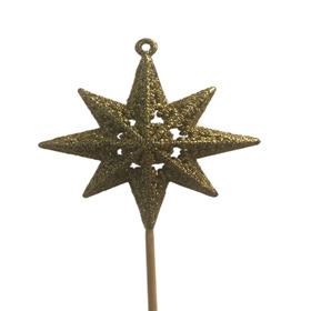 Sparkle Star on 50cm stick gold