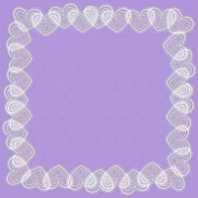 VINTAGE LOVE 24X24 IN LILAC