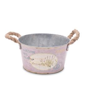 Zinc bowl Lavender Ø23 H12.5cm