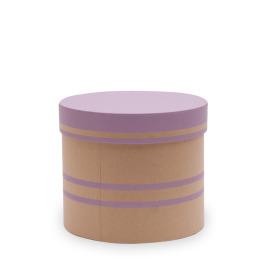 Hat box Duo Lines Ø15xH13cm lilac