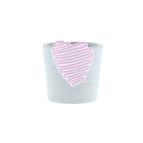 Beton pot Love Signature ES9 roze