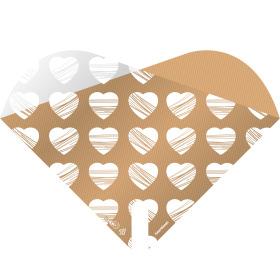 Sleeve Doublé Heartbeat 30x30cm white