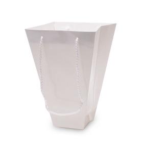 Carton carrybag Uni 17.5/17.5x8/8x25cm white