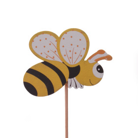 Summer Bee 7cm on 50cm stick yellow