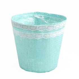 Paperweave Pot 9x12.5x12cm turquoise
