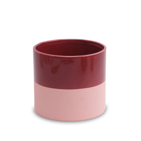 Ceramic Pot Soft Touch ES5 in Merlot