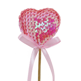 Heart Boost 5cm on 50cm stick pink