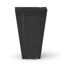 Carrybag Velvet 10/10x18/12x28cm black