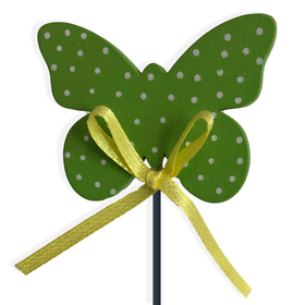 Butterfly Dots Small on 8in stick green
