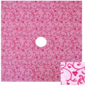 Organza Baroque 24x24 in hot pink with hole