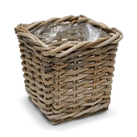 Basket rattan Cottage 16x16 H14cm