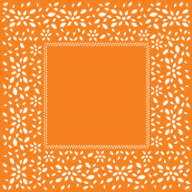 ARTLINE SHEET 24x24 IN ORANGE