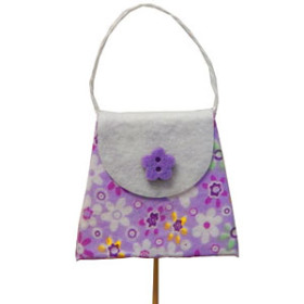 Purse on 20 in stick lavender
