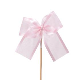 Strik Organza Stripe 10cm op 50cm stok roze