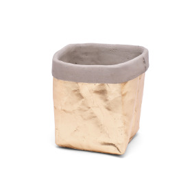 Ceramic Pot Kathia 11.5x11.2cm H10.5cm gold