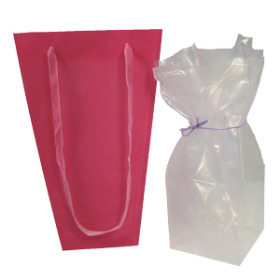 Aquatico for tall Vase bags 4x4x9in - 500 Mic. transparent
