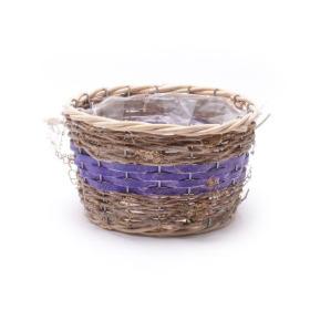 Basket round Ø32cm purple