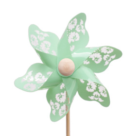 Windmill Jazz 9cm on 50cm stick green