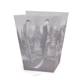 Carrybag Winter Paradise 17/13x11/11x20cm gray