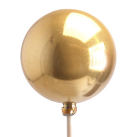 Christmas Ball Pearl 6cm on 50cm stick gold