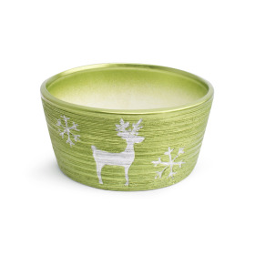 Ceramic bowl Caribou Ø15.5cm green
