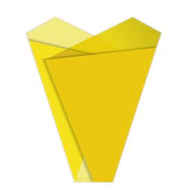 Sleeve Teagan 50x35x10cm yellow