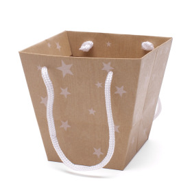Bag Dream Stars 15/13x11/10x14cm natural