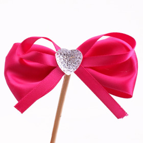Diamond Ribbon 8cm on 15cm stick cerise