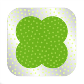 Dots Sheet 24x24 in green