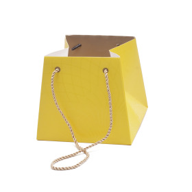 Carton bag Rising Sun 13/13x17/17x15cm yellow